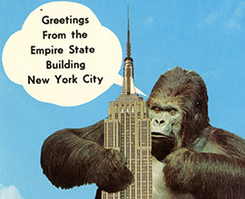 king kong postcard